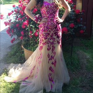 Sherry Hill courture dress, paid $550
